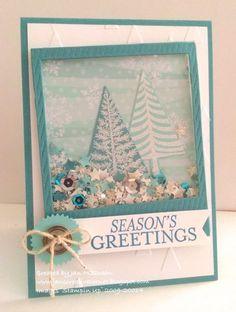 Tutoriel de Maquillage : Festival of Trees Christmas shaker card...
