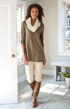 Misses > easy tab-sleeve tunic at J.Jill