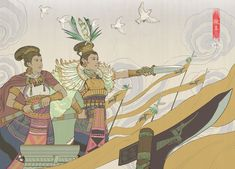Gods And Goddesses, Cool Names, Countries, Illustrator, Character Design, Asia, Culture, Fantasy, Traditional