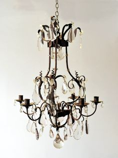 19th Century French Wrought Iron Chandelier | Rose Uniacke