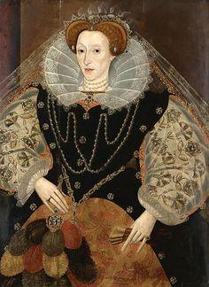 A portrait of Queen Elizabeth I, circa 1595.