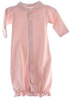8fe87afaef9 Girls Pink Pima Cotton Take Home Gown - Hiccups Childrens Boutique Baby Boutique  Online