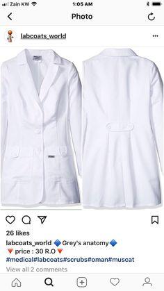 Doctor Coat, Kurta Neck Design, Lab Coats, Fashion Sewing, Muslim Fashion, Hospitals, Scrubs, Medical, Gowns