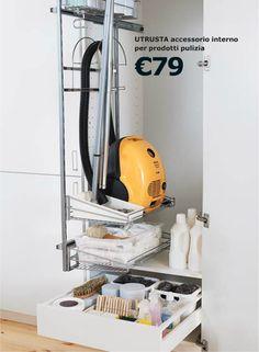 Besenschrank Ikea cleaning supplies storage solution contemporary kitchen