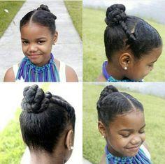 Penteado para cabelo crespo -infantil