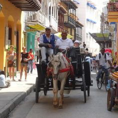 A carriage ride is a good way to experience the old city of Cartagena, Colombia