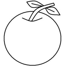 Apple coloring pages for kids (fruits coloring pages