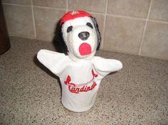 Vintage-St-Louis-Cardinals-Baseball-MLB-Puppy-Puppet-Rare