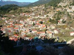 The village Panourgias of Gkiona, the homeland of the famous hero of is built in nature, with many streams and springs. Greece Travel, Homeland, Photo S, Travelling, Dolores Park, Greek, Walking, River, Building