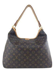 d46d91a974 Louis Vuitton Monogram Canvas Delightful MM Hobo Bag Brown - Consigned  Designs