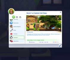 Zookeeper Career - The Sims 4 Catalog Sims Mods, Sims 4 Game Mods, Sims 4 Cc Packs, Sims 4 Mm Cc, Sims 4 Teen, My Sims, Sims 4 Jobs, The Sims 4 Skin, Sims 4 Traits