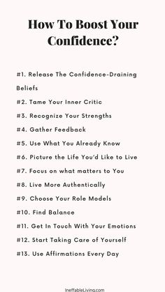 Building Self Confidence, Confidence Boost, Self Development, Personal Development, Focus On What Matters, Book Writing Tips, Anxiety Help, Self Improvement Tips, Inspirational Books