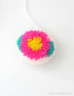 Ideas DIY: Pompones con flores