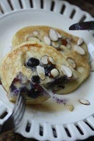 Blueberry Almond Pancakes (gluten free)