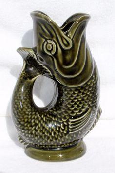 Hearty Dartmouth Pottery Fish Bon Bon Dish In Brown Pottery, Porcelain & Glass