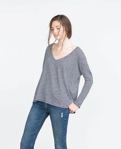 BASIC T-SHIRT-T-shirts-TRF   ZARA United States