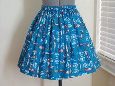 The Cat in the Hat Skirt  Full Gathered Skirt  by AquamarCouture, $41.00