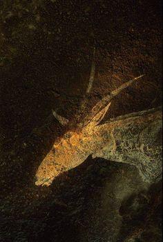 Drakensberg Cave, San Rock Art, South Africa , ca. 500 BCE (?) via Stephen Ellcock