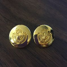 Vintage Liz Claiborne Gold Earrings They are in vintage condition very lovely. Liz Claiborne Jewelry Earrings