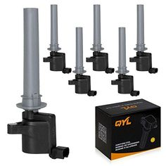QYL Pack of 6 Ignition coil for Ford Mercury Escape Five Hundred Freestyle Taurus Mariner Montego Sable 3.0L V6 C1458 FD502 DG500 DG513 DG-500. For product info go to:  https://www.caraccessoriesonlinemarket.com/qyl-pack-of-6-ignition-coil-for-ford-mercury-escape-five-hundred-freestyle-taurus-mariner-montego-sable-3-0l-v6-c1458-fd502-dg500-dg513-dg-500/