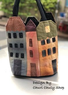 Patchwork Bags, Quilted Bag, Diy Tote Bag, Reusable Tote Bags, My Bags, Purses And Bags, Japanese Bag, Sweet Bags, Craft Bags