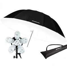 Westcott 1211C 1200-Watt Daylight Spiderlite TD6 7 Feet Parabolic Umbrella Kit (Silver/Black) ** Read more reviews of the product by visiting the link on the image.