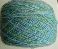 Here's some yarn I dyed a while back. I think the colors are very appropriate for early spring - when the grass is really green, but the flowers haven't quite poked up yet.