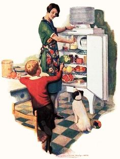 Just think what a tremendous help it must have been when ice boxes (and later fridges) were invented. #1920s