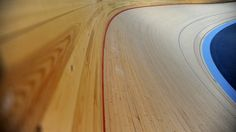 The Siberian pine track at the Olympic velodrome at the Olympic Park, Stratford, East London, 27 January 2011.