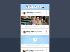 Home page // social app design