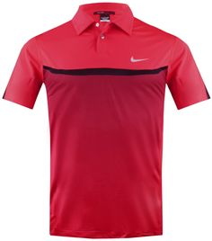 TIGER WOODS DESIGNER PRINT POLO HYPER RED - AW13