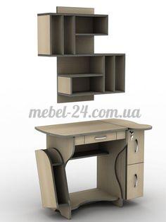 Стол компьютерный наборной СУ-3, полка книжная ПУ-15, компьютерный стол, магазин мебели Белая Церковь, Купить недорого + Цена