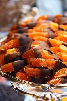candied oranges in chocolate