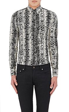 Saint Laurent Python-Print Silk Shirt - Collection - Barneys.com