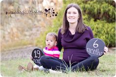 Love this...when I get photos done Mackenzie will be 19 months (almost 20 months) and baby boy will be 35 weeks.
