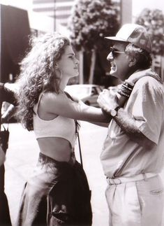 Garry Marshall and Julia Roberts on the set of Pretty Woman (1990)