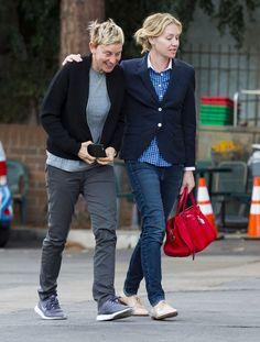 Ellen DeGeneres and Portia de Rossi Out in LA December 2015 | POPSUGAR Celebrity
