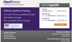 Heathrow Parking example of the Reevoo badge on their site.