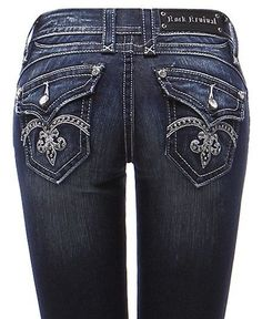Rock Revival Size 23 Boot Cut Jeans Sasha RJ8207B10 NWT (Fits KIDS Size 10 also) #RockRevival #BootCut