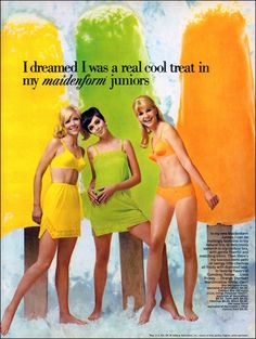 Maidenform Juniors (1968) Vintage Ad