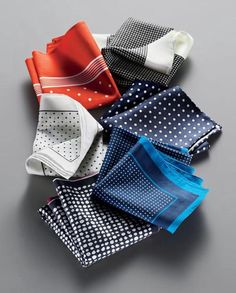 pocket squares are a must...