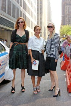 tied shirt, skirts,green dress -Anne Christensen, Gretchen Gunlocke Fenton, and Sarah M