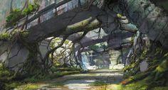 Concept art for Monster Hunter Online, Mu Yu-jiang on ArtStation at https://www.artstation.com/artwork/5dvoJ