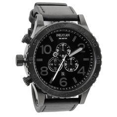 51-30 Chrono Leather Watch by Nixon.