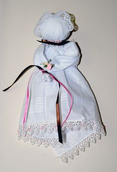 Handkerchief Doll, Pew baby doll, Pioneer these were made for children to play quietly with during church.