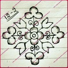 Indian Rangoli Designs, Rangoli Designs Latest, Simple Rangoli Designs Images, Rangoli Designs Flower, Rangoli Border Designs, Rangoli Patterns, Rangoli Designs With Dots, Rangoli With Dots, Beautiful Rangoli Designs
