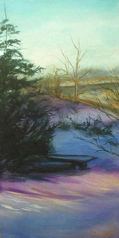 Winter's Beautiful Morning Acrylic on canvas Art By Lisabelle
