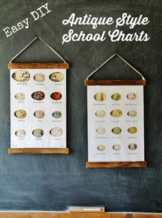 Easy DIY Antique School Charts