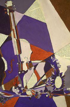 cubist still life collage