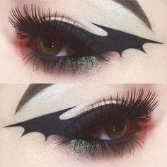 Bat wing eyeliner  inspired by @kayteeellen